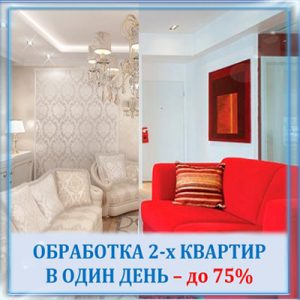 Обработка двух квартир в один день
